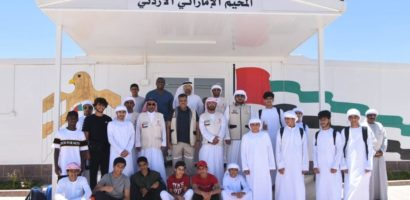 Young Emirati volunteers are spending part of their summer in Jordan to help teach jiu-jitsu to refugees.